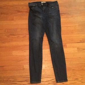 Gap 30 Tall true skinny jeans